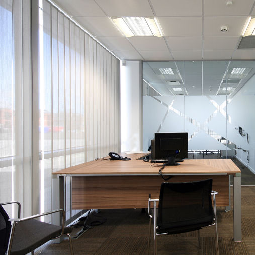 Enfield Office Vertical Blinds Flame Retardant
