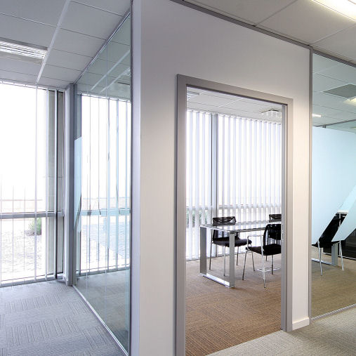office vertical blinds dim out